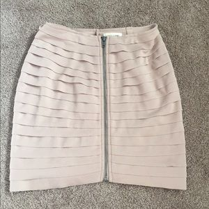 Urban Outfitters Pale Pink Zipper Pencil Skirt